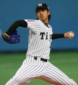 OSAKA, JAPAN - NOVEMBER 7: Kei Igawa #29 of Hanshin Tigers pitch during the Aeon All Star Series Day 4 - MLB v Japan All-Stars at the Kyocera Dome on November 7, 2006 in Osaka, Japan. (Photo by Koichi Kamoshida/Getty Images)